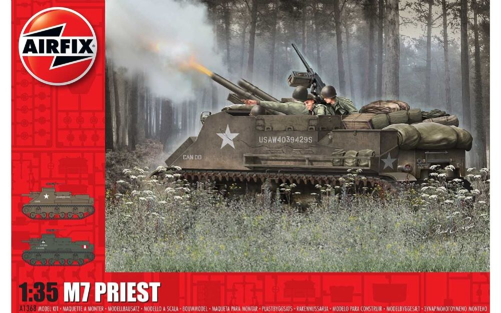 AIRFIX  A1368 1/35 BRITISH M7 PRIEST MODEL TANK KIT
